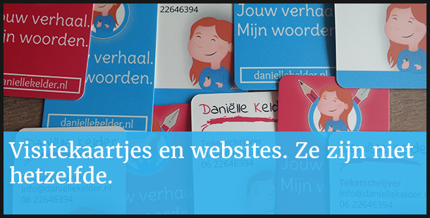 Website is visitekaartje