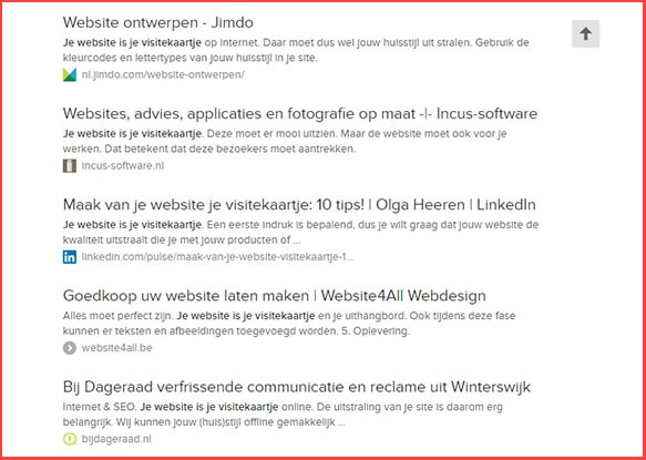 Website is je visitekaartje
