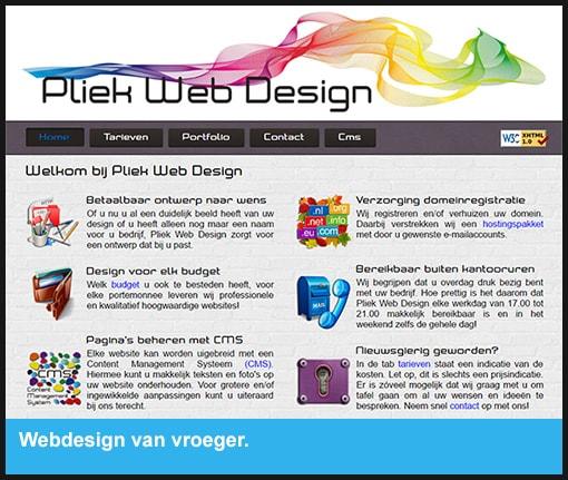 Webdesign van vroeger