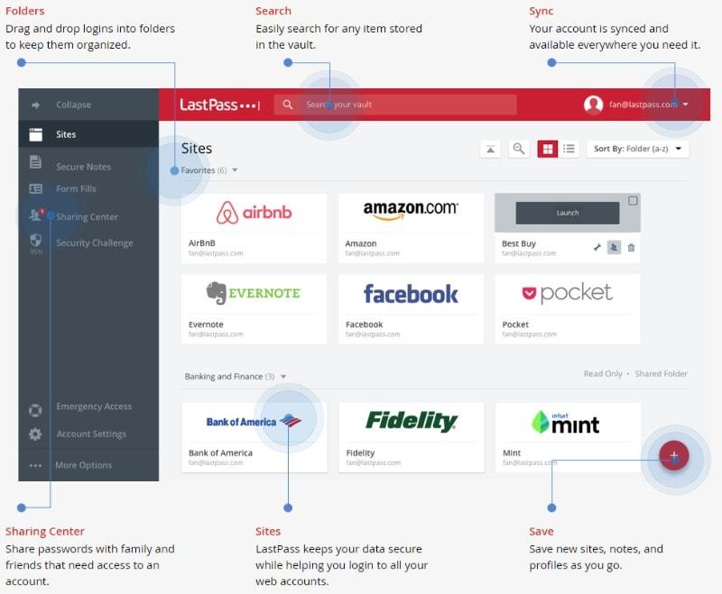 LastPass screenshot