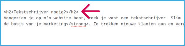 Voorbeeld header HTML