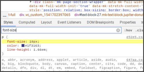 Voorbeeld Font size